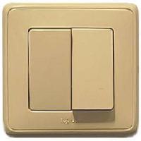 773708 Cariva Крем Переключатель 2-х клавишный