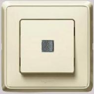 773710 Cariva Крем Выключатель 1-клавишный с подсветкой