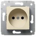 773721 Cariva Крем Розетка с/з с защитными шторками