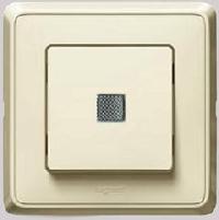 773726 Cariva Крем Переключатель 1-клавишный с подсветкой