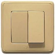 773758 Cariva Крем Выключатель 2-х клавишный