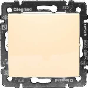 774101 Valena Крем Выключатель 1-клавишный IP44 (со стандартной рамкой)
