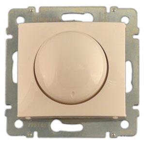 774161 Valena Крем Светорегулятор поворотный 40-400W для ламп накаливания (вкл поворотом)
