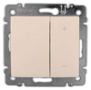 774162 Valena Крем Светорегулятор нажимной 40-400W для л/н, универсальный, многофункциональный