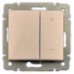 774174 Valena Крем Светорегулятор нажимной 40-600W для л/н и обмоточных т-ров