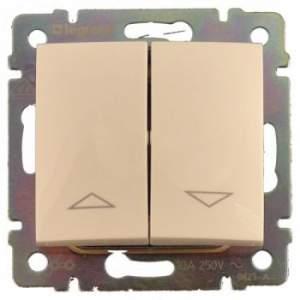 774314 Valena Крем Выключатель жалюзийный кнопочный