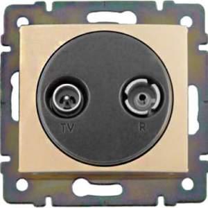 774332 Valena Крем Розетка TV-FM единственная (каб сеть) 862 МГц 1.5 дБ