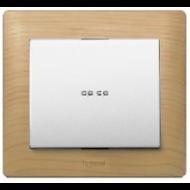 775600 PRO 21 Мех Выключатель 1-клавишный с подсветкой зеленая лампа 0,5 мА