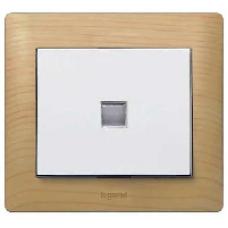 775601 PRO 21 Мех Выключатель 1-клавишный с индикацией, с нейтралью, оранжевая лампа 1,0 мА