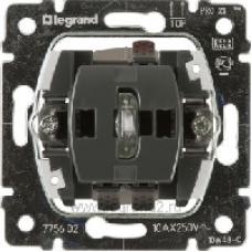 775602 PRO 21 Мех Переключатель 1-клавишный с подсветкой, зеленая лампа 0,5 мА
