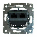 775766 PRO 21 Мех Розетка компьютерная 2-ая 5 кат UTP (RJ45) без лапок (крепление на захватах)
