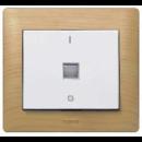 775822 PRO 21 Мех Выключатель 1-клав с подсветкой/индикацией, 2-полюсный с N-клеммой