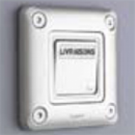 77843 Soliroc Выключатель кнопочный с этикеткой НО+НЗ 6А IP55