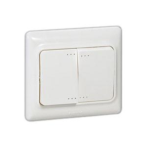 782102 Kaptika Белый Выключатель 2-клавишный