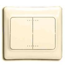 782132 Kaptika Бежевый Выключатель 2-клавишный