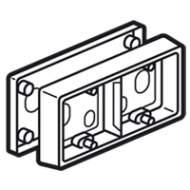80245 Celiane Титан Коробка для накладного монтажа 2п