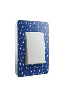 8200610-221 82 Detail Рамка 1 пост, сине-фиолетовый, звезды
