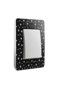 8200610-222 82 Detail Рамка 1 пост, черный, звезды