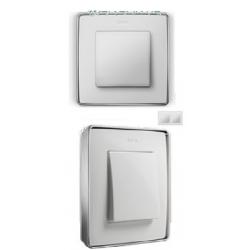 8201620-244 82 Detail Рамка, 2 пост, белый, основание хром