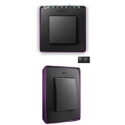 8201620-251 82 Detail Рамка, 2 поста, графит, фиолетовое основание