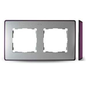 8201620-254 82 Detail Рамка, 2 поста, холодн. алюминий, фиолетовое основание