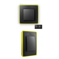 8201620-262 82 Detail Рамка, 2 поста, графит, неоново-желтое основание