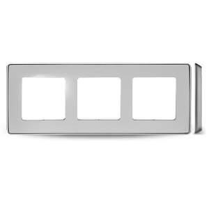 8201630-243 82 Detail Рамка, 3 пост, белый, основание алюминий