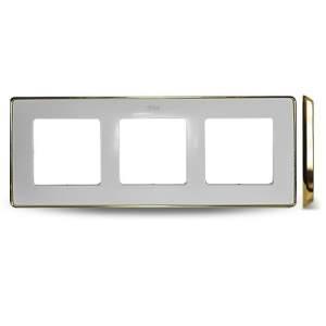 8201630-245 82 Detail Рамка, 3 пост, белый, основание золото