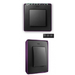 8201630-251 82 Detail Рамка, 3 поста, графит, фиолетовое основание