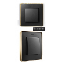 8201640-242 82 Detail Рамка, 4 поста, графит, основание золото