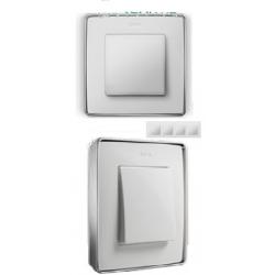 8201640-244 82 Detail Рамка, 4 пост, белый, основание хром