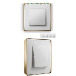 8201640-245 82 Detail Рамка, 4 пост, белый, основание золото