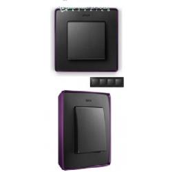 8201640-251 82 Detail Рамка, 4 поста, графит, фиолетовое основание