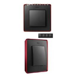 8201640-252 82 Detail Рамка, 4 поста, графит, красное основание