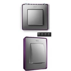 8201640-254 82 Detail Рамка, 4 поста, холодн. алюминий, фиолетовое основание