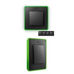 8201640-260 82 Detail Рамка, 4 поста, графит, неоново-зеленое основание