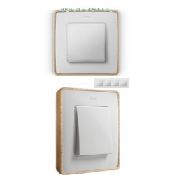 8201640-270 82 Detail Рамка, 4 пост, белый, основание дерево