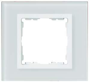 82647-30 82 Nature Белый/Белое стекло Рамка на 4 поста