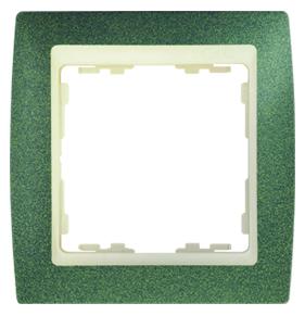 82714-65 82 Зеленый структурный/Слоновая кость Рамка 1-ая