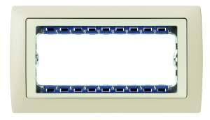 82780-61 82 Centr. Рамка с суппортом на 8 узких модулей, сл.кость - сл.кость