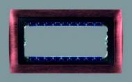 82854-36 82 Centr. Античная медь - графит Рамка с суппортом на 5 узких модулей