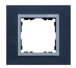 82917-38 82 Nature Сталь матовая чёрная/Алюминий/Металл Рамка на 1 пост