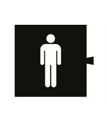 """82962-34 82 Световой фильтр-пиктограмма 82066 """"WC мужской"""""""