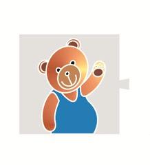 """82962-61 82 Световой фильтр-картинка 82066 """"медведь"""""""