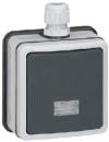 90460 Plexo Серый Переключатель 1-клавишный,накладной,в сборе,10А, IP66