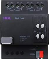 HDL-M/W02.10.1 DIN контроллер моторизованных штор, жалюзи, роллет на 2 канала, 10А