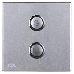 HDL-MP02R.48P 2-клавишная кнопочная Smart панель, LED индикация, европейский стандарт (в сборе с шинным соединителем HDL-MPPI.48)