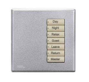 HDL-MP7C.48 7-клавишная панель серии iScene, европейский стандарт (без шинного соединителя HDL-MPPI.48)