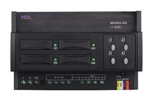 HDL-MD0403.432 DIN диммер 4-канальный, 3А на канал