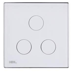 HDL-MPT3.48 3-клавишная сенсорная Smart панель, LED индикация, европейский стандарт (без шинного соединителя HDL-MPPI.48)